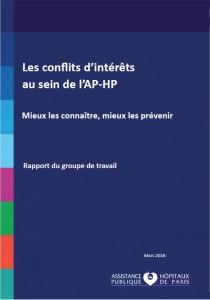 Page de couverture - rapport APHP conflits d'interets
